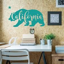Amazon Com California Bear Vinyl Wall Art Decal For Home Decor Bedroom Classroom Or Study Area Wall Mural California Wall Decor Handmade
