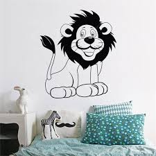 Customized Cartoon Lion Decorative Wall Stickers Kids Room Cute Bedroom Decals Sale Price Reviews Gearbest