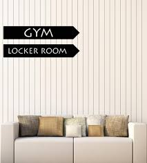 Vinyl Wall Decal Logo Locker Room Gym Sports Fitness Stickers Mural G Wallstickers4you