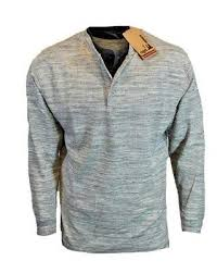 mens thermal on henley tee shirt