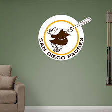San Diego Padres Classic Logo San Diego Padres Mlb San Diego Padres Sports Wall Decals Sports Decorations