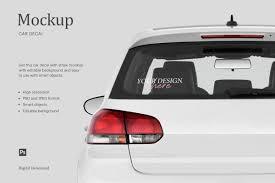 Car Decal Styled Mockup Car Decal Rear Car Window By Ariodsgn Thehungryjpeg Com