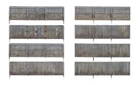 Woodland Privacy Fence Kit With Gates Hinges Planter Pins Total Scale Length 192 58 5m 785 2995