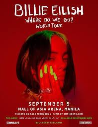 billie eilish concert in manila 2020