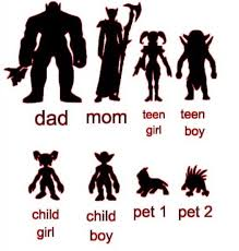 World Of Warcraft Family Car Decal Stickers Mom Dad Son Etsy