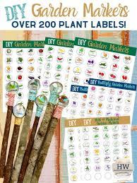 diy garden markers plant labels