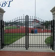 China Long Time Guarantee Wrought Iron Gate Price Driveway Gate Ornamental Gates China Wrought Iron Gates And Ornamental Gates Price