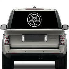 Pentagram Die Cut Vinyl Sticker Occult Baphomet Car Decal Satanic Satan Skull Ebay