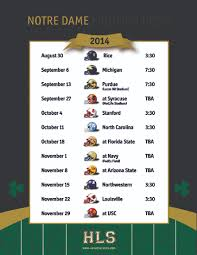 Notre Dame Football Schedule 2017 Printable