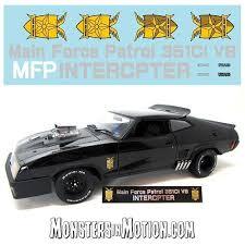 Mad Max Last Of The V8 Interceptors Mfp Decal Sheet For 1 18 Scale Replica Mad Max Last Of The V8 Interceptors Mfp Decal Sheet For 1 18 Scale Replica 181mc01 14 99