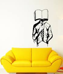 Vinyl Wall Decal Walking Dictionary Library Book Lover Store Student S Wallstickers4you