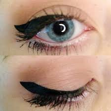 cat eye make up for diffe eyes