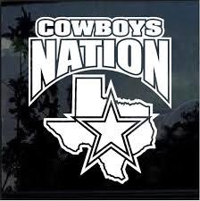 Dallas Cowboys Nation Window Decal Sticker Custom Sticker Shop