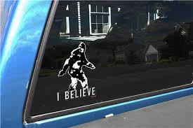Bigfoot I Believe Sasquatch Hunters Ufo Alien Vinyl Car Decal Achtung T Shirt Ww2 Military T Shirts And Pro Gun T Shirts