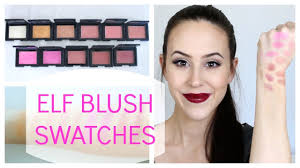 elf studio blush collection swatches