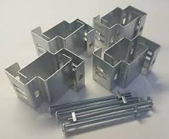 Slotted Concrete Fence Post Brackets To Fit 4x5 Inch Post Set Of 4 Just Clamp On Ebay