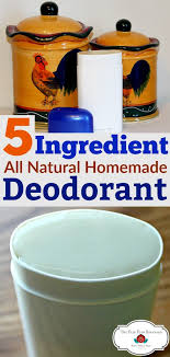 homemade natural deodorant recipe that