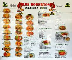 Roberto's Mexican Food menu in Pocatello, Idaho, USA