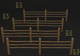 Low Poly Fence 3d Model Turbosquid 1218166