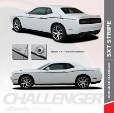 Gray Vinyl Decal Graphics Wrap Kit For 2011 2014 Dodge Charger Side C Stripe