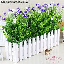 40cm Fence Purple Tulips White Artificial Fake Silk Plastic Flowers For Coffee Dining Table Living Room Home Decorations Furnishings Christmas Halloween Wedding Birthday Party Gift Buy Online In El Salvador
