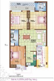 3bhk floor plan bella homes