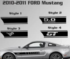 Product 2010 2014 Ford Mustang Door Stripe Vinyl Decal Sticker Gt 5 0 Graphic Kit Custom