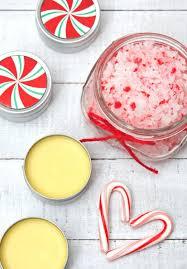 peppermint lip balm and hand scrub