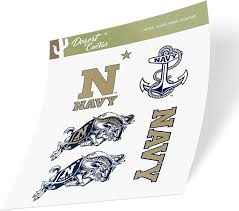 Amazon Com United States Naval Academy Usna Midshipmen Ncaa Navy Sticker Vinyl Decal Laptop Water Bottle Car Scrapbook Type 2 Sheet Arts Crafts Sewing