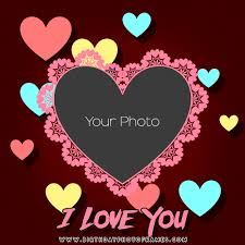 i love you heart photo frame free edit