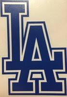 Los Angeles Dodgers La Decal Sticker Car Window Manca