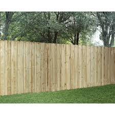 Wood Fencing Pressure Treated Board On Board 6 X 8 Panel Acq At Lowes Com