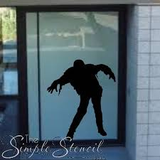 Halloween Frankenstein Zombie Man Vinyl Wall Window Decal The Simple Stencil