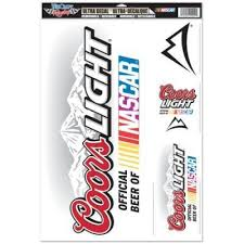Nascar Coors Light Official Logo 11 X17 Ultra Decal Window Cling Set By Wincraft 8 94 Show Your Team Pride Everywh Window Clings Coors Light Vibrant Colors