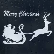 Merry Christmas Santa Claus Rides In A Sleigh Car Decal Vinyl Sticker Archives Statelegals Staradvertiser Com