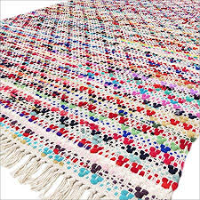 x 6 ft colorful chindi decorative woven