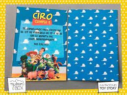 Tarjetas Invitacion Cumple Infantil Evento Toy Story Buzz 181