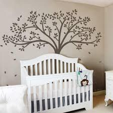 Amazon Com Monochromatic Fall Tree Extended Wall Decal Tree Wall Sticker Vinyl Tree Decal Nursery Wall Art Decoration X Large Dark Brown Home Kitchen