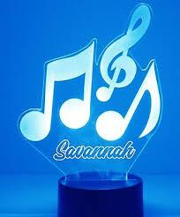 Music Notes Night Light Lamp Personalized Free Kids Room Led Night Lamp Gift Ebay