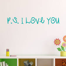 P S I Love You Vinyl Wall Decal Decal The Walls
