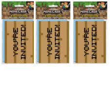 Amazon Com Minecraft Video Game Pixel Basado En Invitaciones De