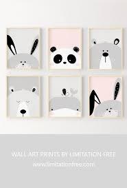 Nursery Art Cute Animal Wall Art Prints For Kids Room Or Nursery Kids Wall Art Bunny Bear Whale Animal Wall Art Prints Art Wall Kids Baby Room Wall Decor