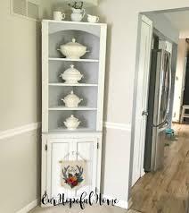 diy chalk paint corner cabinet styled