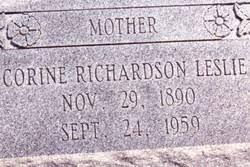 Corine Ada Richardson Leslie (1890-1959) - Find A Grave Memorial