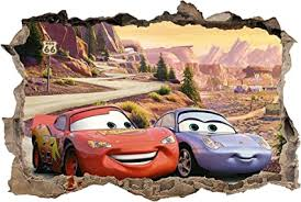 Cars Movie 3 Smashed Wall Sticker Graphic Decal Art Disney Mcqueen J215