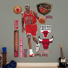 Michael Jordan Chicago Bulls Fathead Real Big Peel And Stick Life Size Wall Graphic Walmart Com Walmart Com