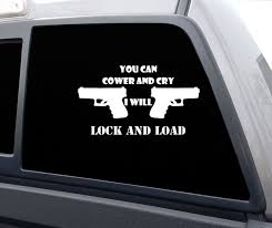 Cower And Cry Vinyl Decal Sticker Hc Patriot