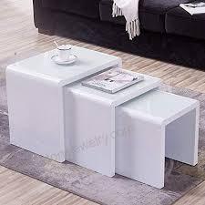 mecor nesting coffee table set 3 piece