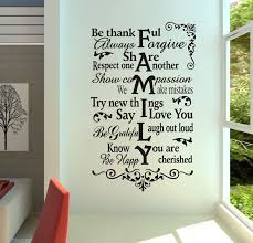 Large Size House Rules Be Thankful Always Forgive Family Quotes Living Room Vinyl Art Wall Decal Stickers Family Wall Decals Wall Stickers Wall Decor Stickers