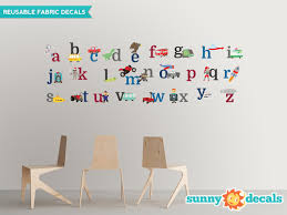 Alphabet Fabric Wall Decals For Boys Abc Wall Stickers